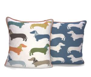Sausage dog cushion
